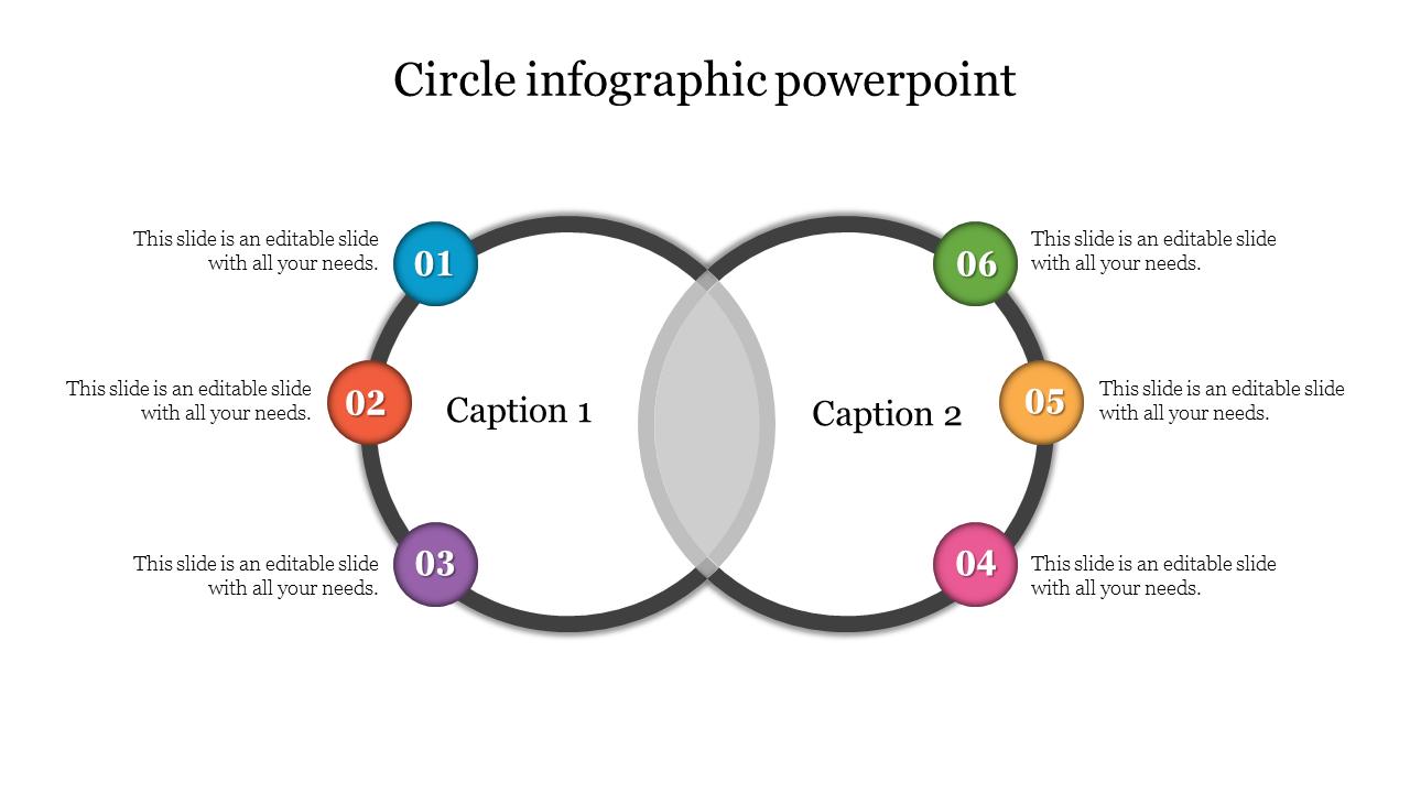 Venn Diagram Circle Infographic Powerpoint