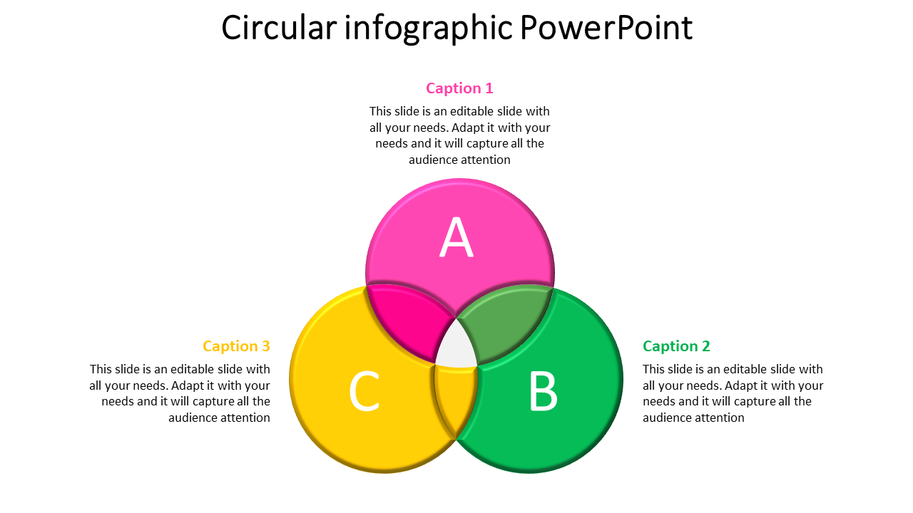 Intersection of Circle Infographic PowerPoint