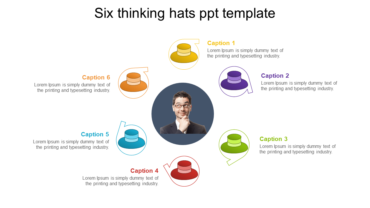 Six Thinking Hats PPT Template Presentation