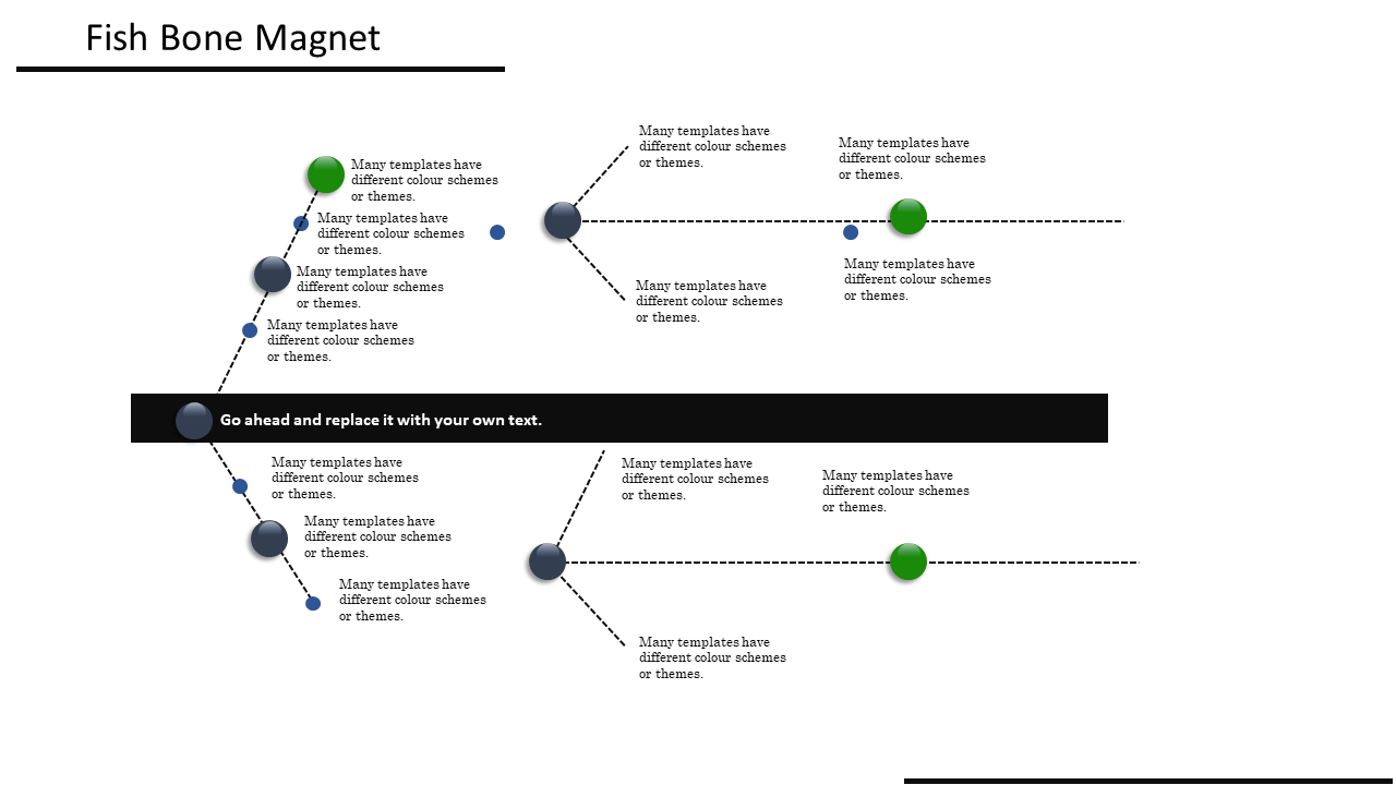 Fishbone Diagram Template Powerpoint With Arrow Model