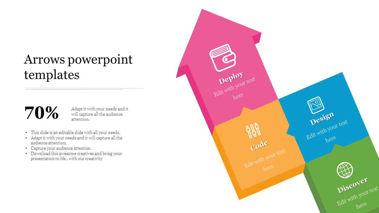 Up Arrows Powerpoint Templates