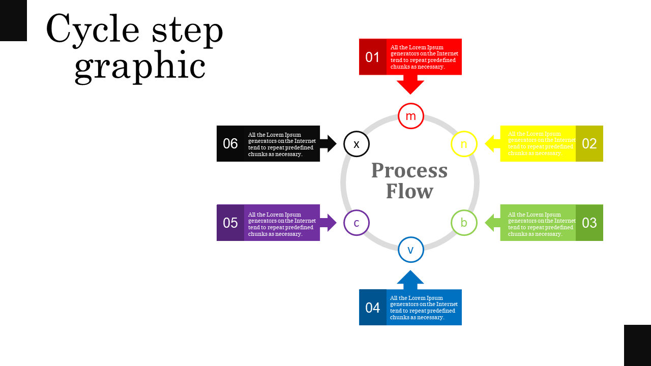 Free - Circle Powerpoint Template - Process Flow