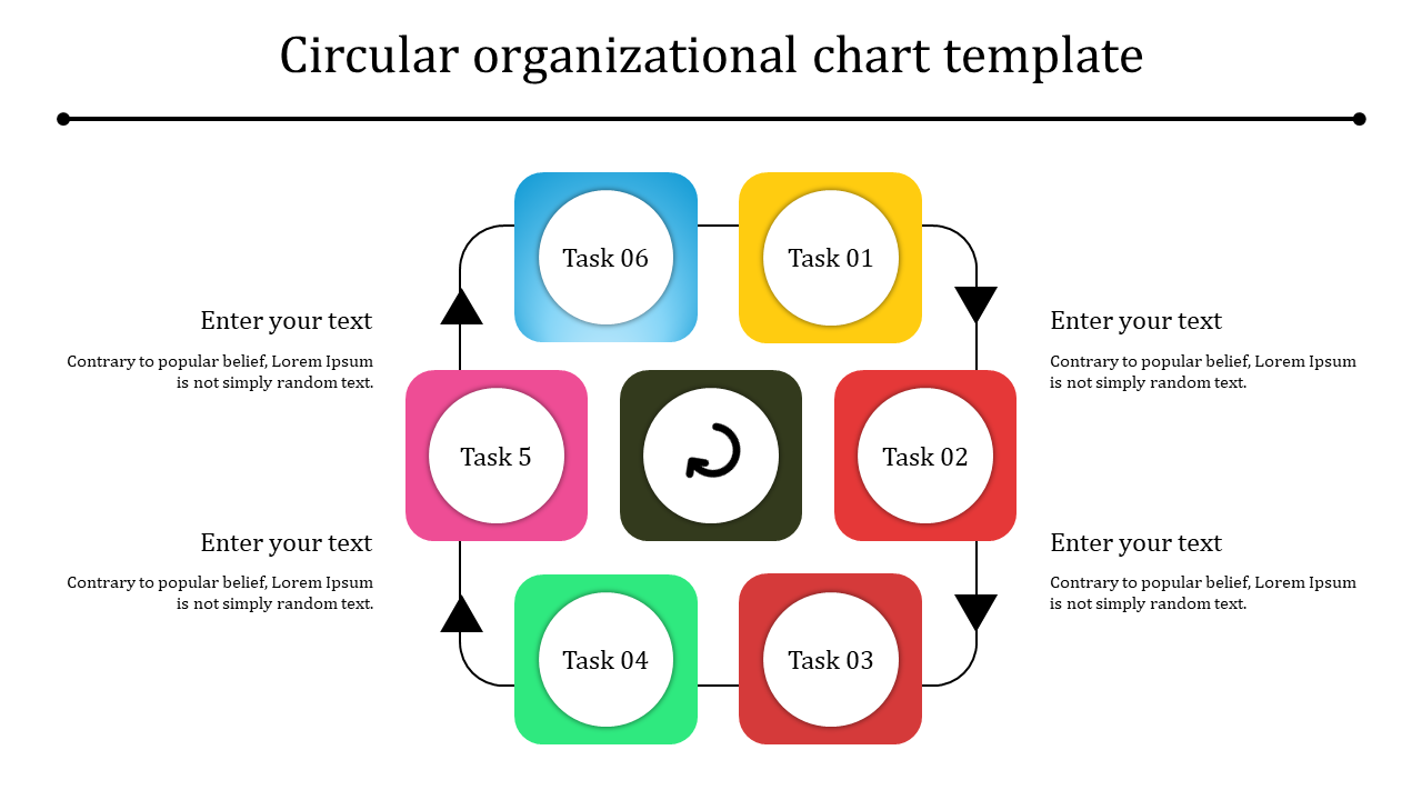 Free-Simple Circular Organizational Chart Template