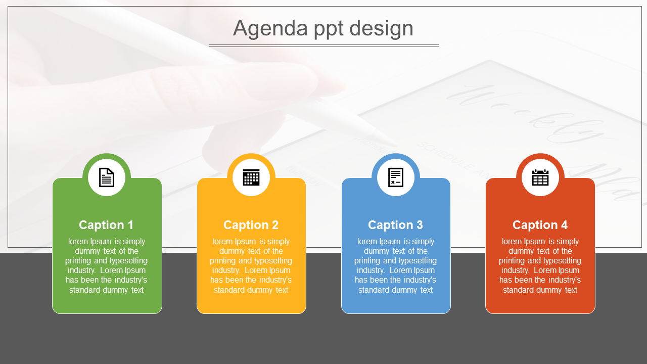Simple Agenda Powerpoint Template Design