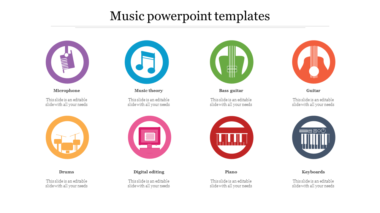 Music Powerpoint Templates With Instruments