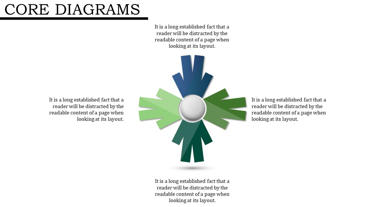 Four Process Arrows Powerpoint Templates