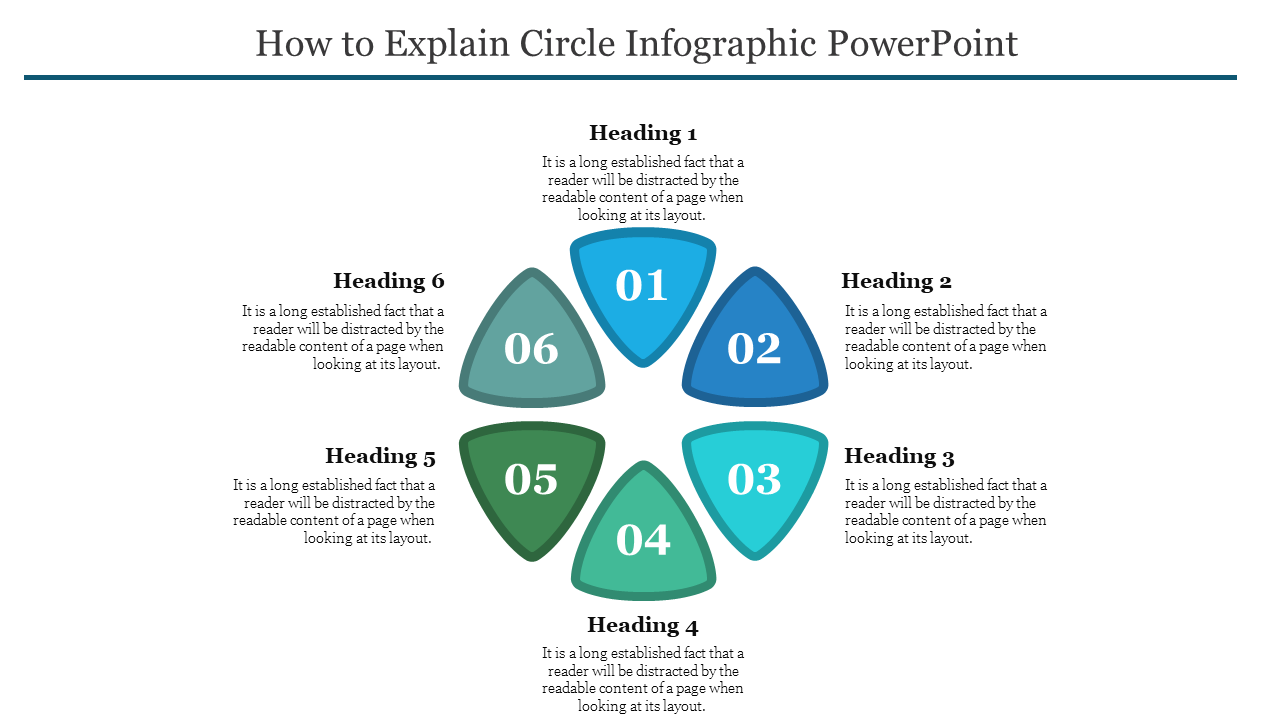 Triangle Model Circle Infographic PowerPoint