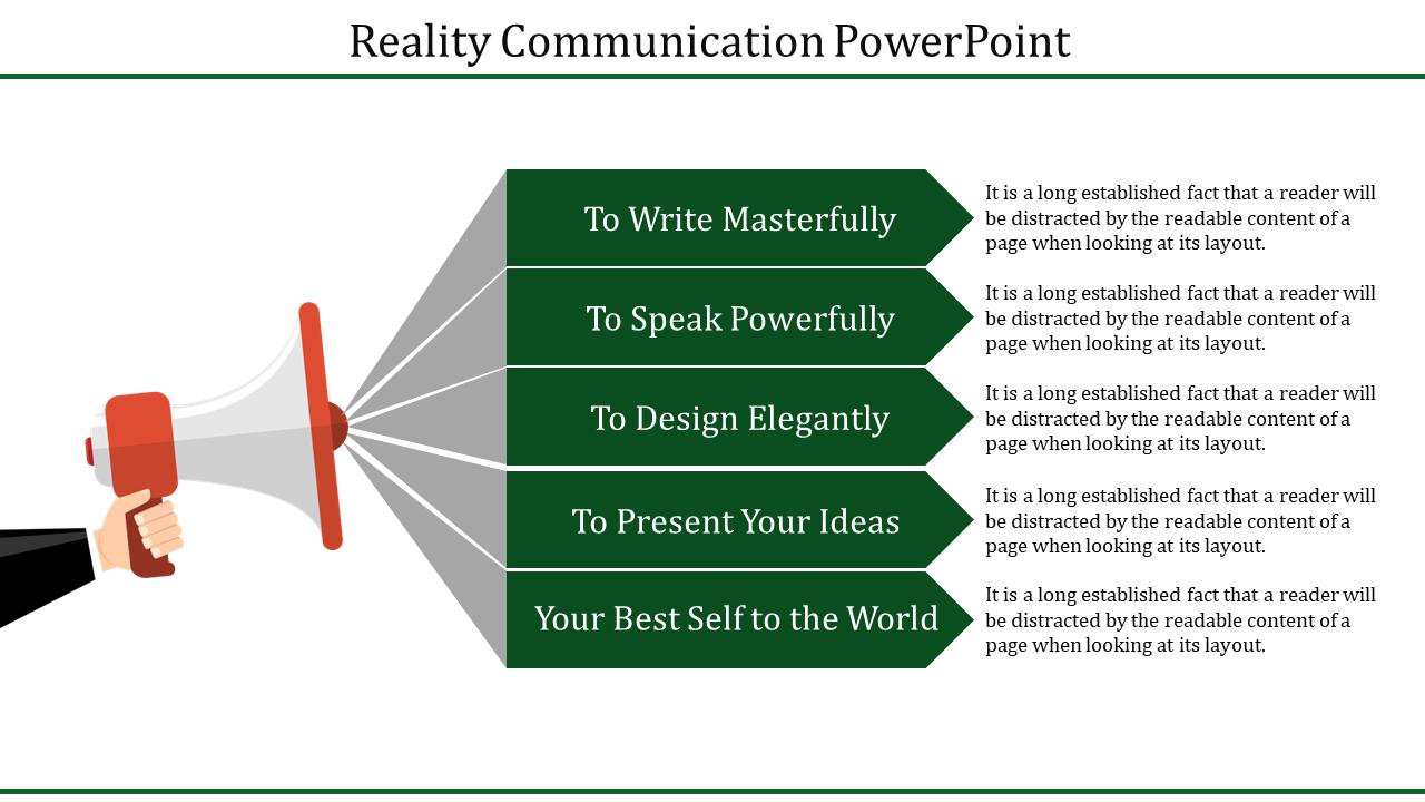 Communication PowerPoint Template - Announcement Model