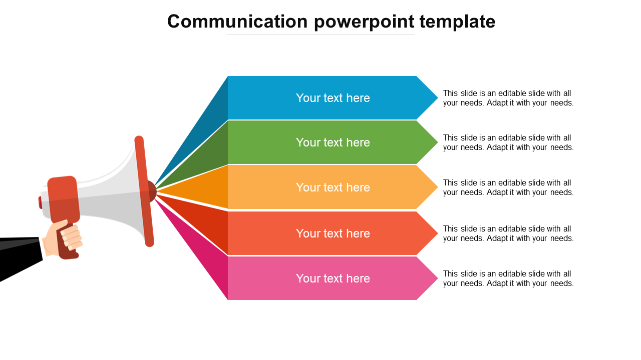 Communication PowerPoint Template - Announcement Model