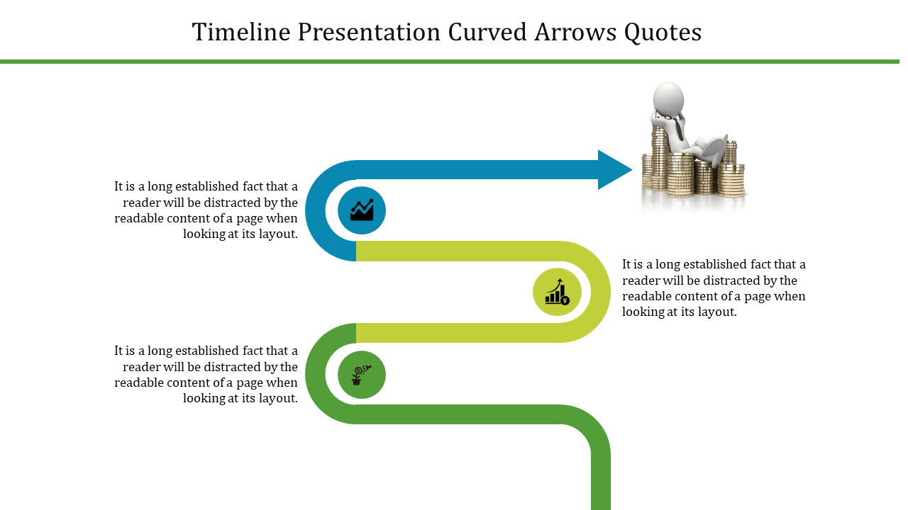 Free - Patterned Timeline Presentation Powerpoint