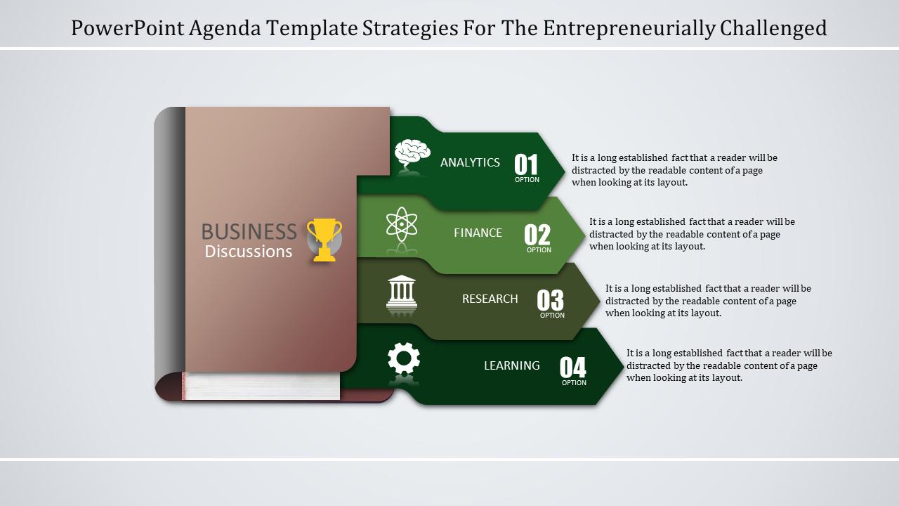 Powerpoint Agenda Template - Diary Model