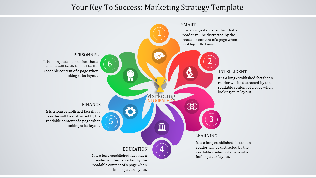 Infographic Marketing Strategy Template