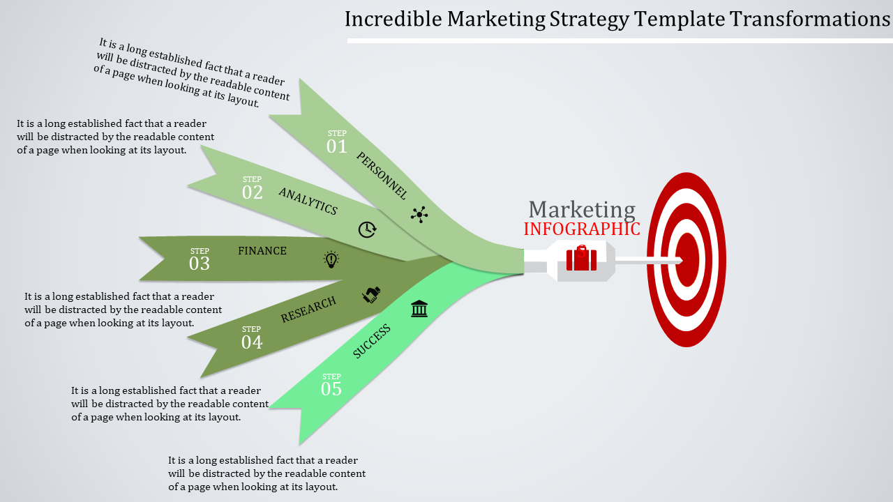 Targeting Arrow Marketing Strategy Template