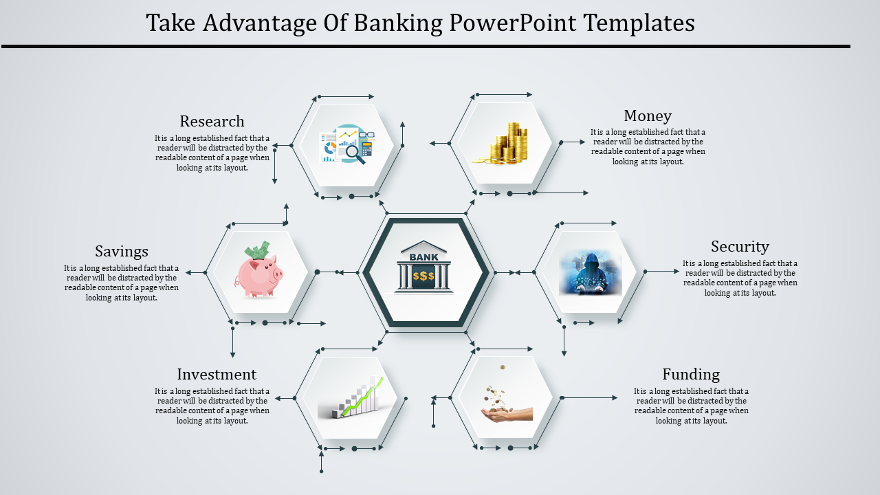 Banking Powerpoint Template Spider Model