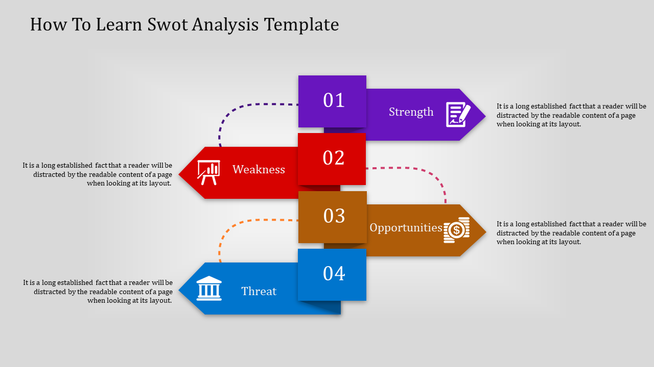Swot Analysis Template-infographic Model