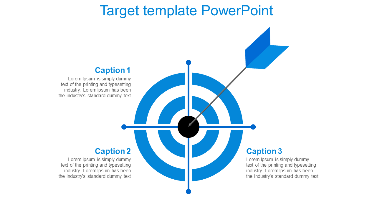 Free - Attractive Target Template Powerpoint