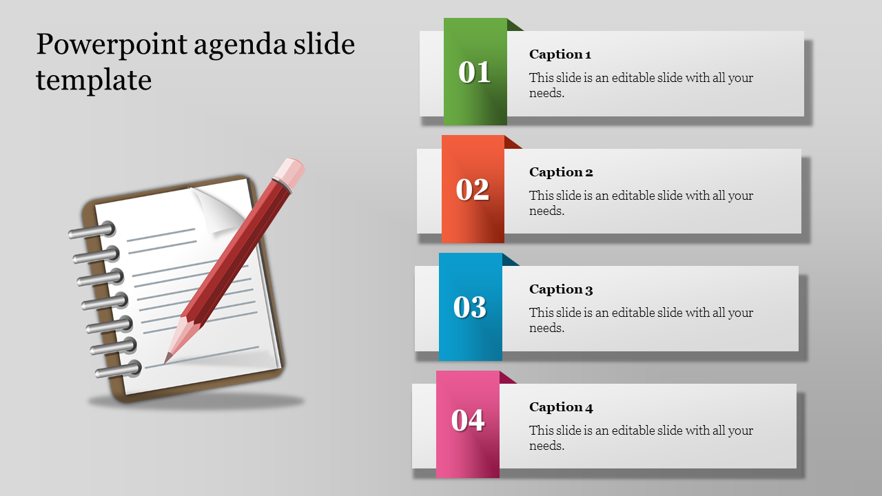 Infographic Powerpoint Agenda Slide Template