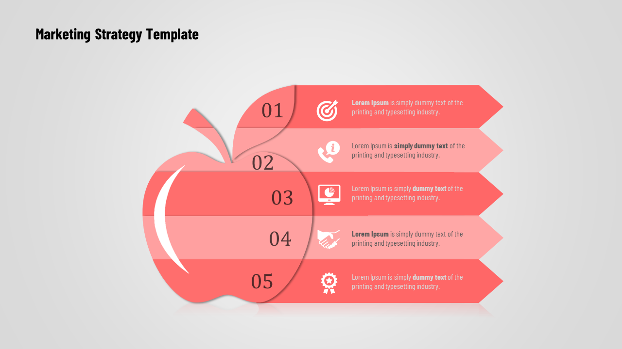 Creative Infographic Marketing Strategy Template