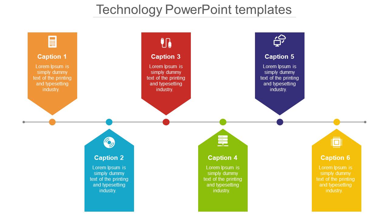 Technology Powerpoint Templates - Chevron Model