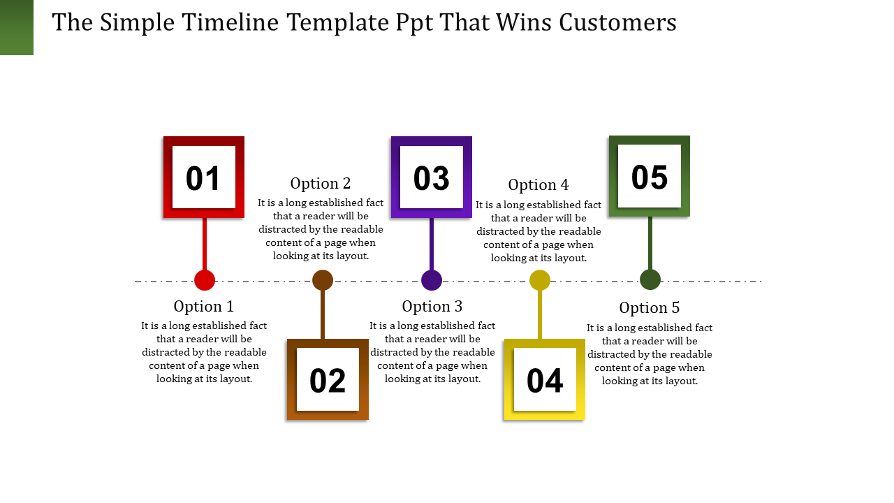 SlideEgg | timeline template ppt-The Simple Timeline