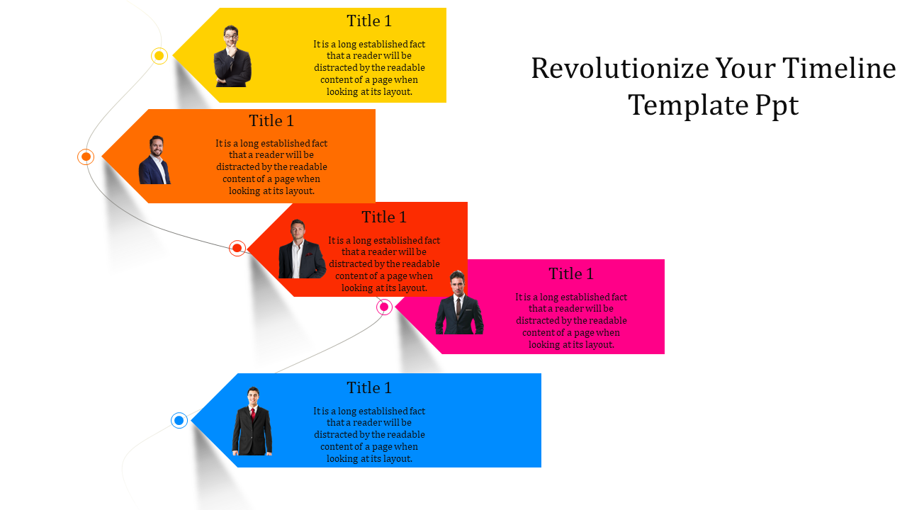Timeline Template PPT For Business People