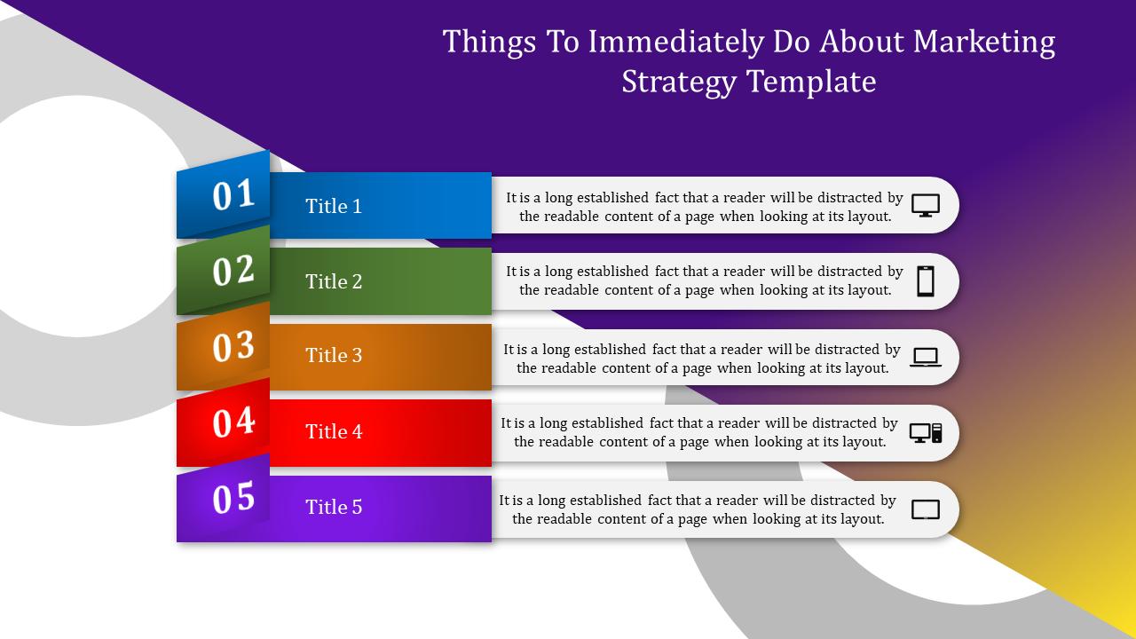 Marketing Strategy Template-Layered Horizontal