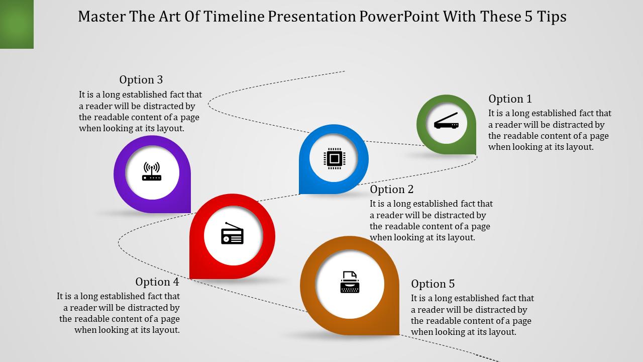 Customizable Timeline Presentation Powerpoint