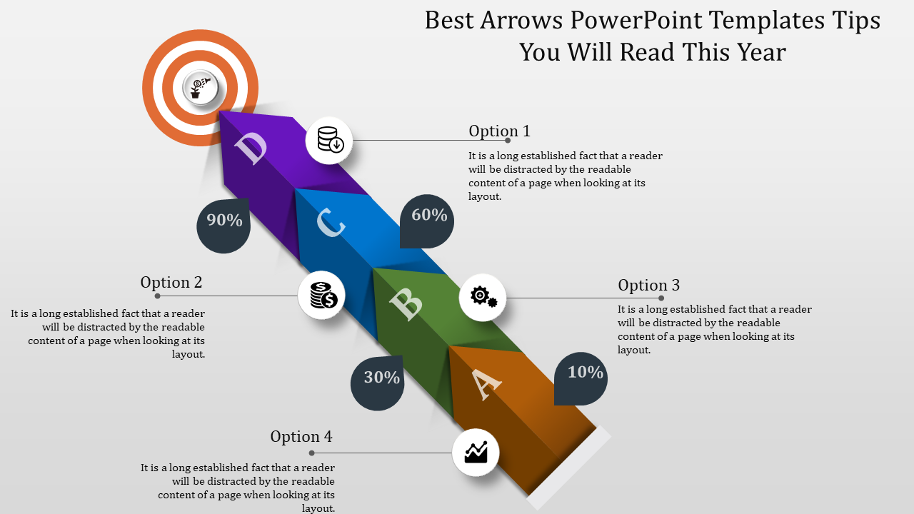 Target Arrows Powerpoint Templates