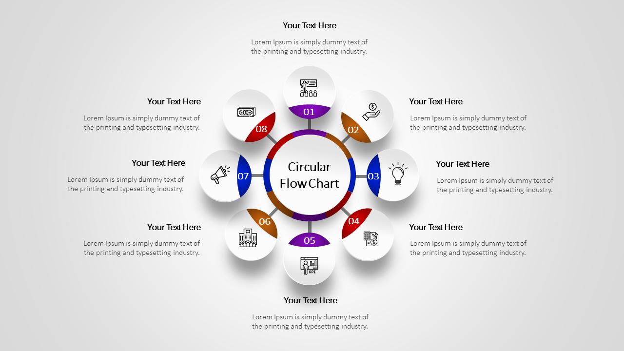 8 Steps Circular Flow Chart Template