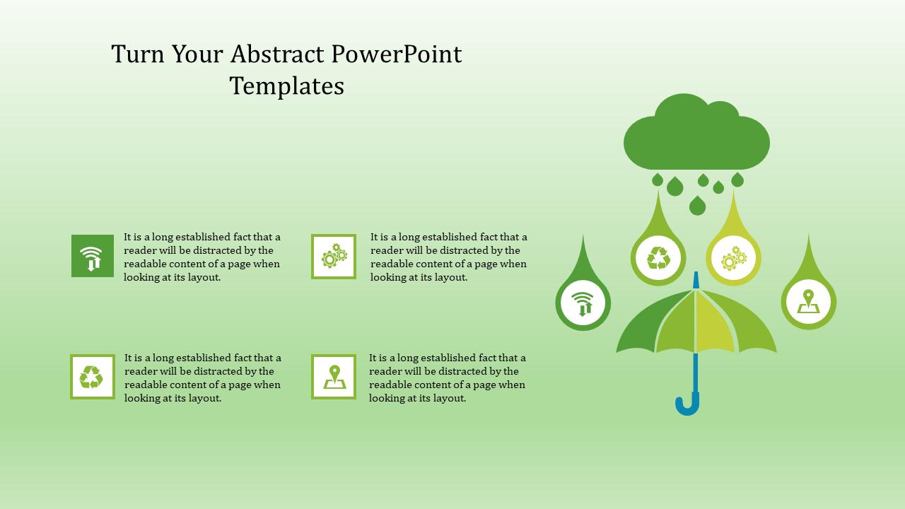 Abstract PowerPoint Templates Umbrella Diagram
