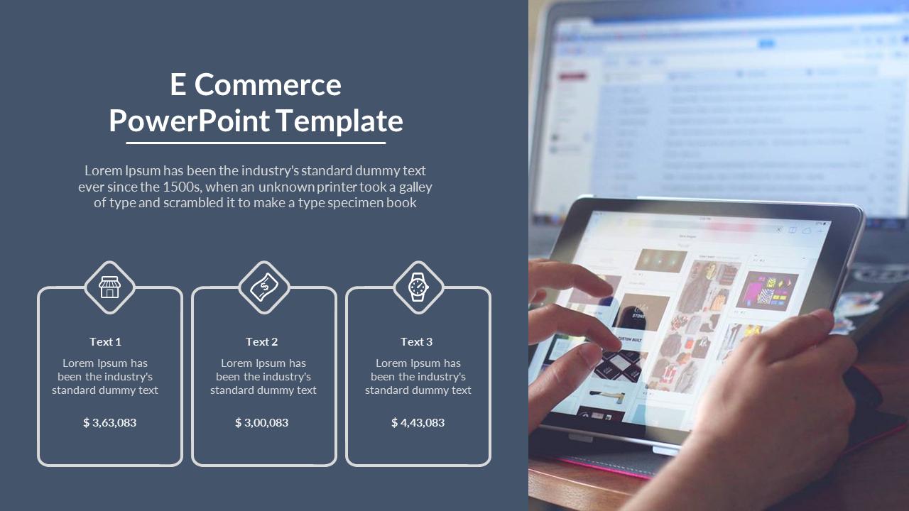 Portfolio E Commerce PowerPoint Template