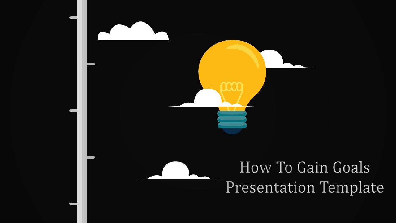 Best Goals Presentation Template-Bullseye Design
