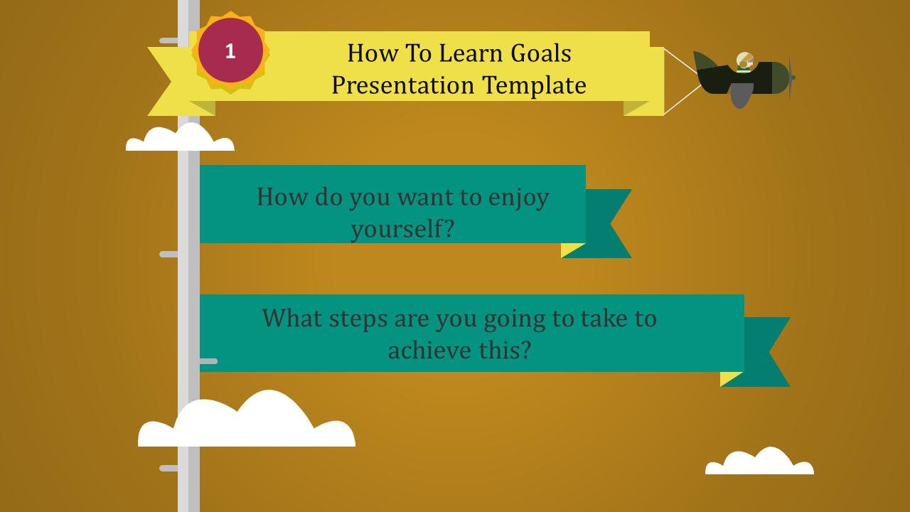 Free - Goals Presentation Template
