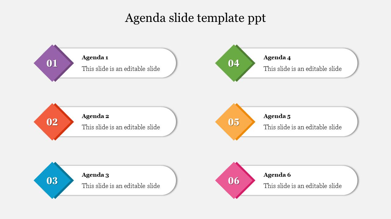 Best Agenda Slide Template PPT- SlideEgg