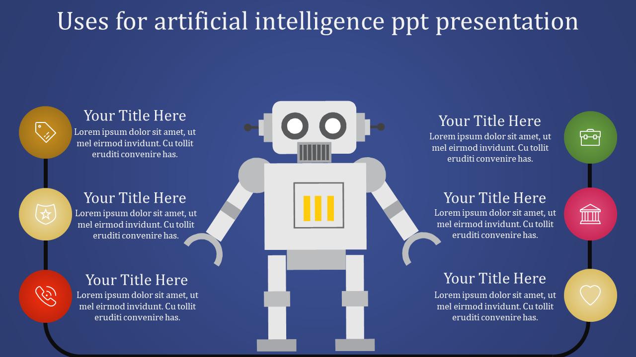 Circular Loop Artificial Intelligence PPT Presentati