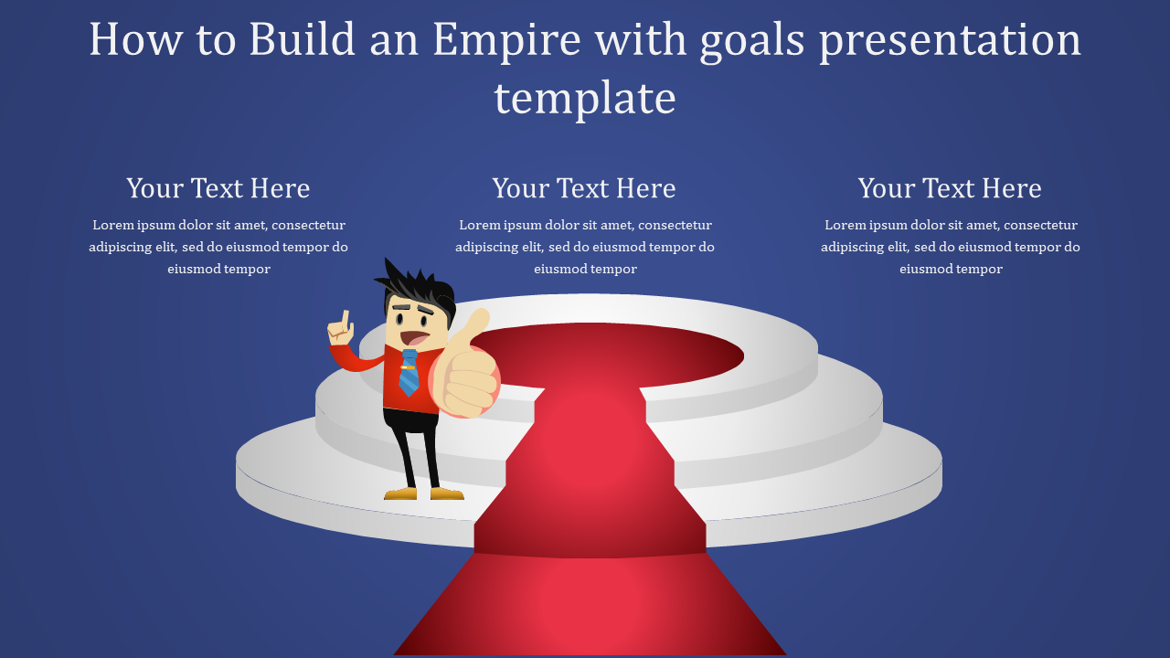 Objectives Of Goals Presentation Template