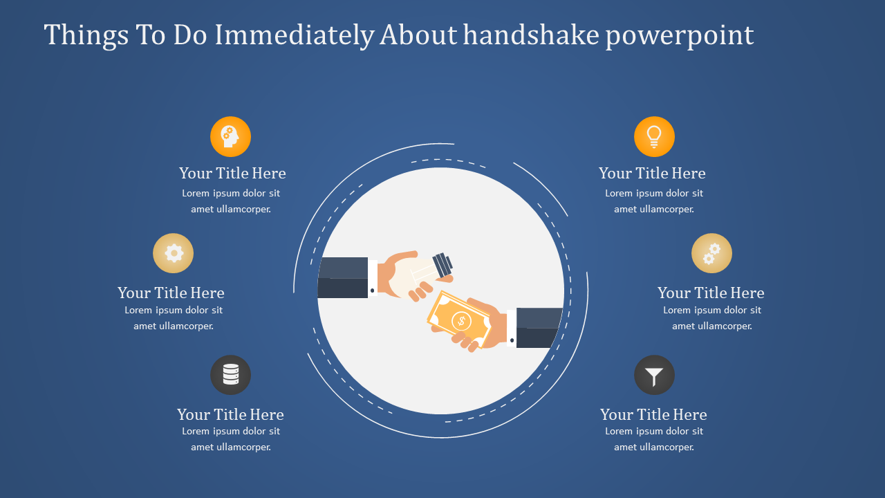 Handshake Powerpoint With Finance