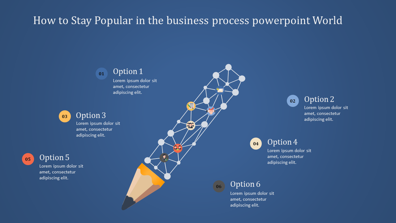 Business Process Powerpoint With Creative Pencil