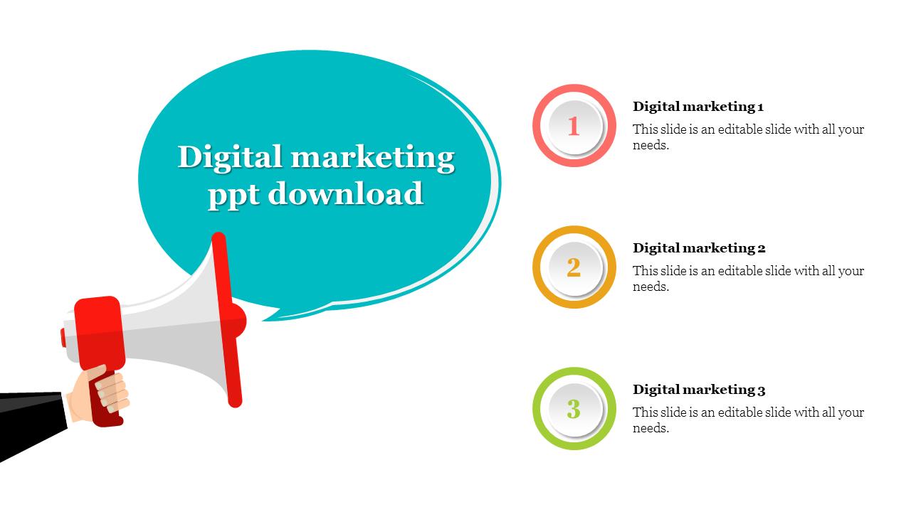 Digital Marketing ppt template Download
