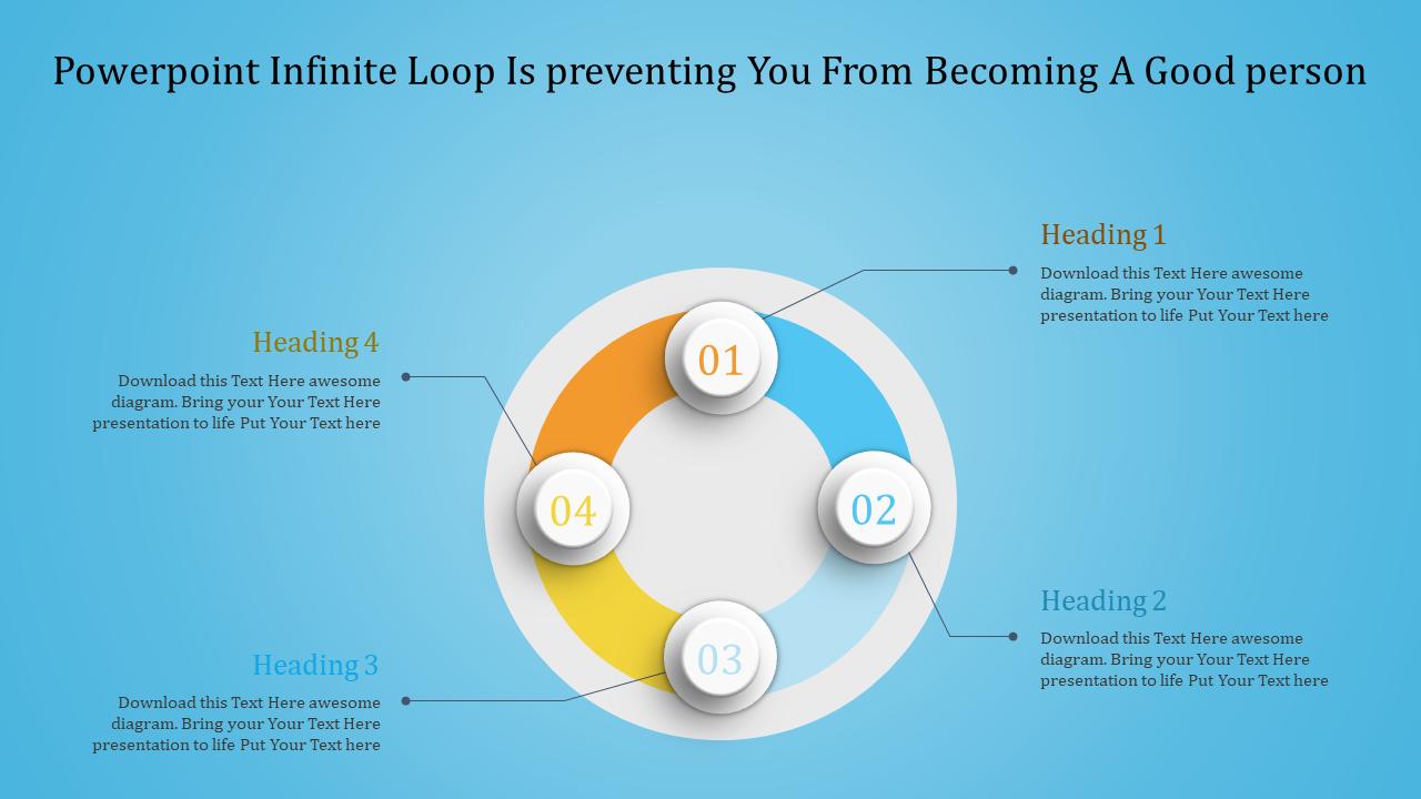 Powerpoint Infinite Loop - Blue Background
