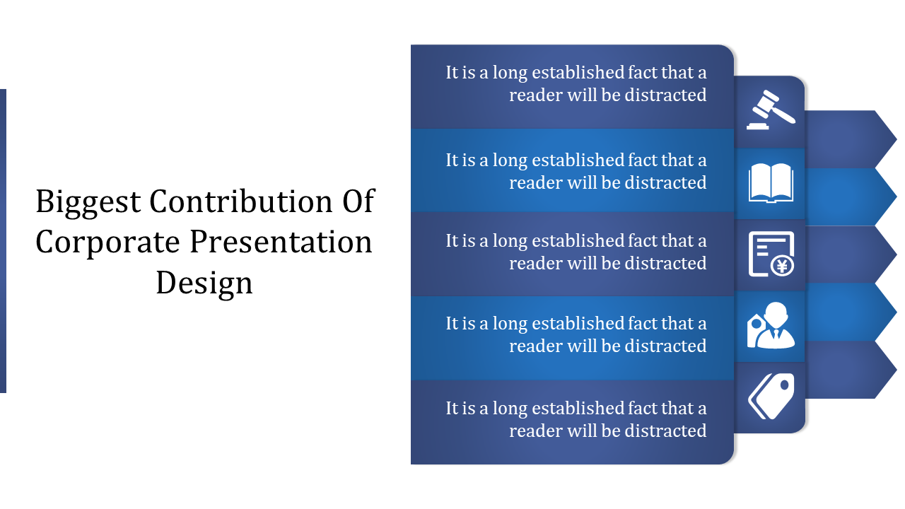 A Five Noded Corporate Presentation Design