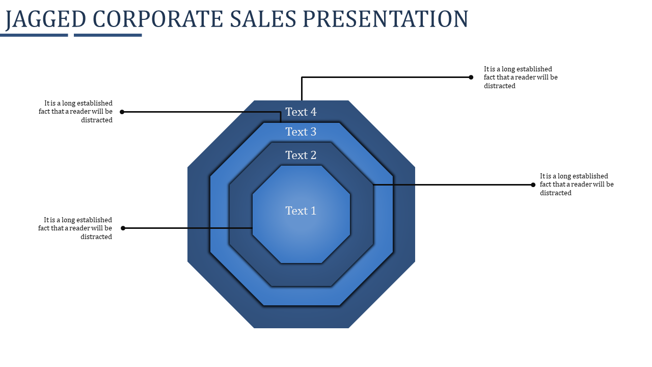Corporate Sales Presentation PPT - Jagged Design