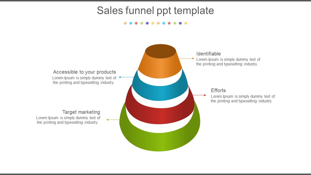 Sales Funnel Powerpoint Template Diagram
