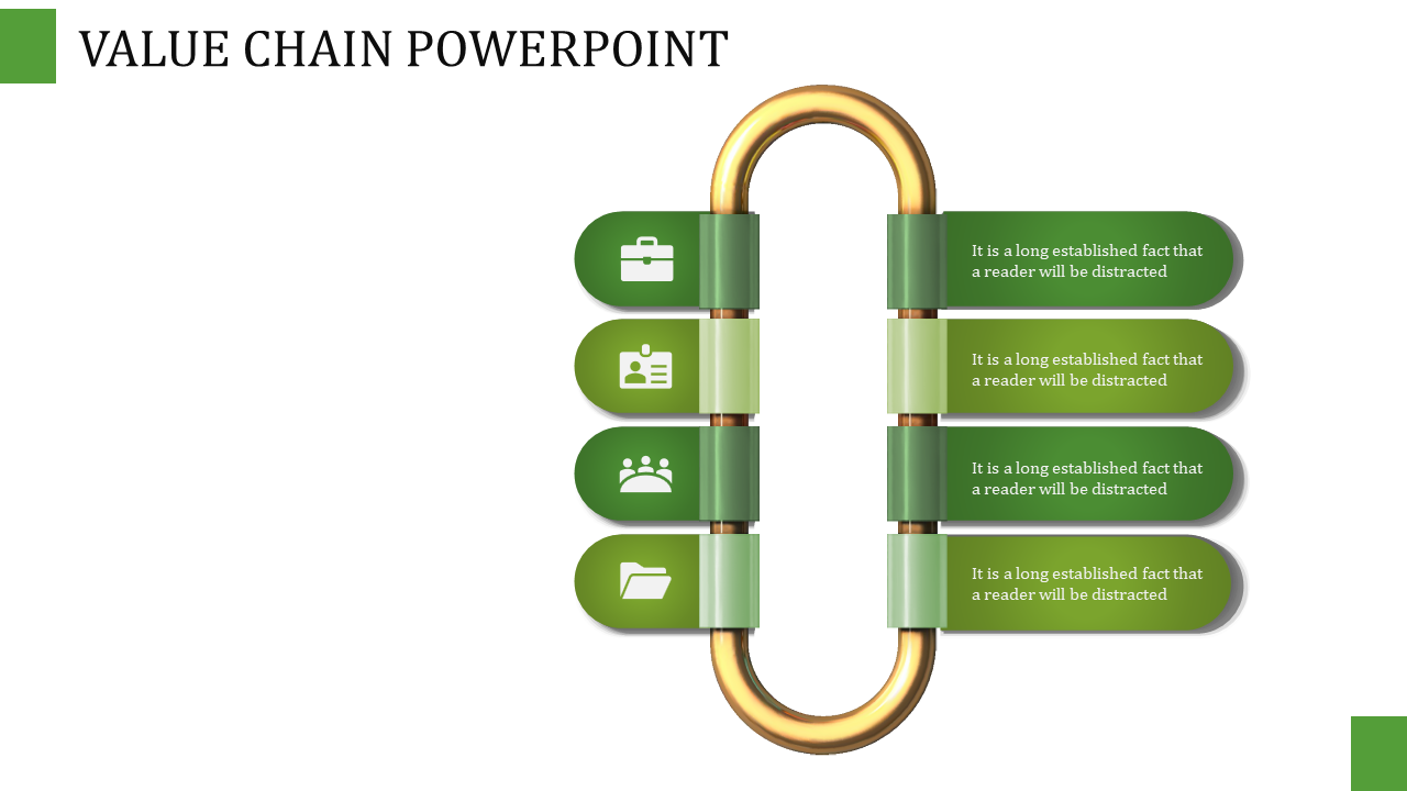 Value Chain Powerpoint - 2 Columned