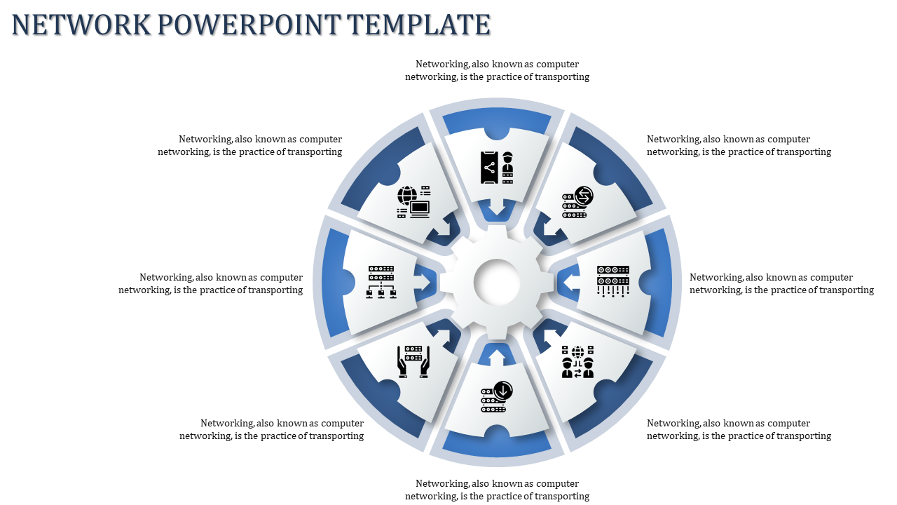 A Eight Noded Network Powerpoint Template