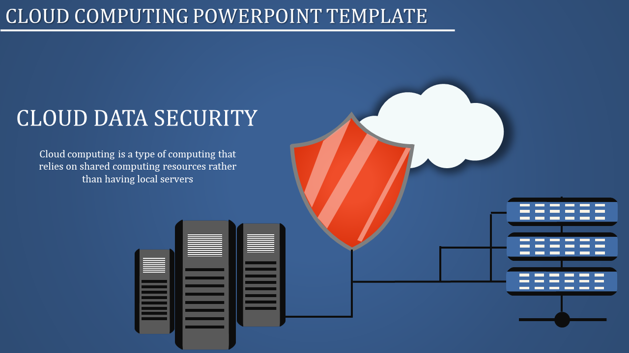 A zero noded cloud computing powerpoint template