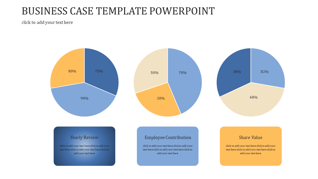 A Three Noded BUSINESS CASE TEMPLATE POWERPOINT
