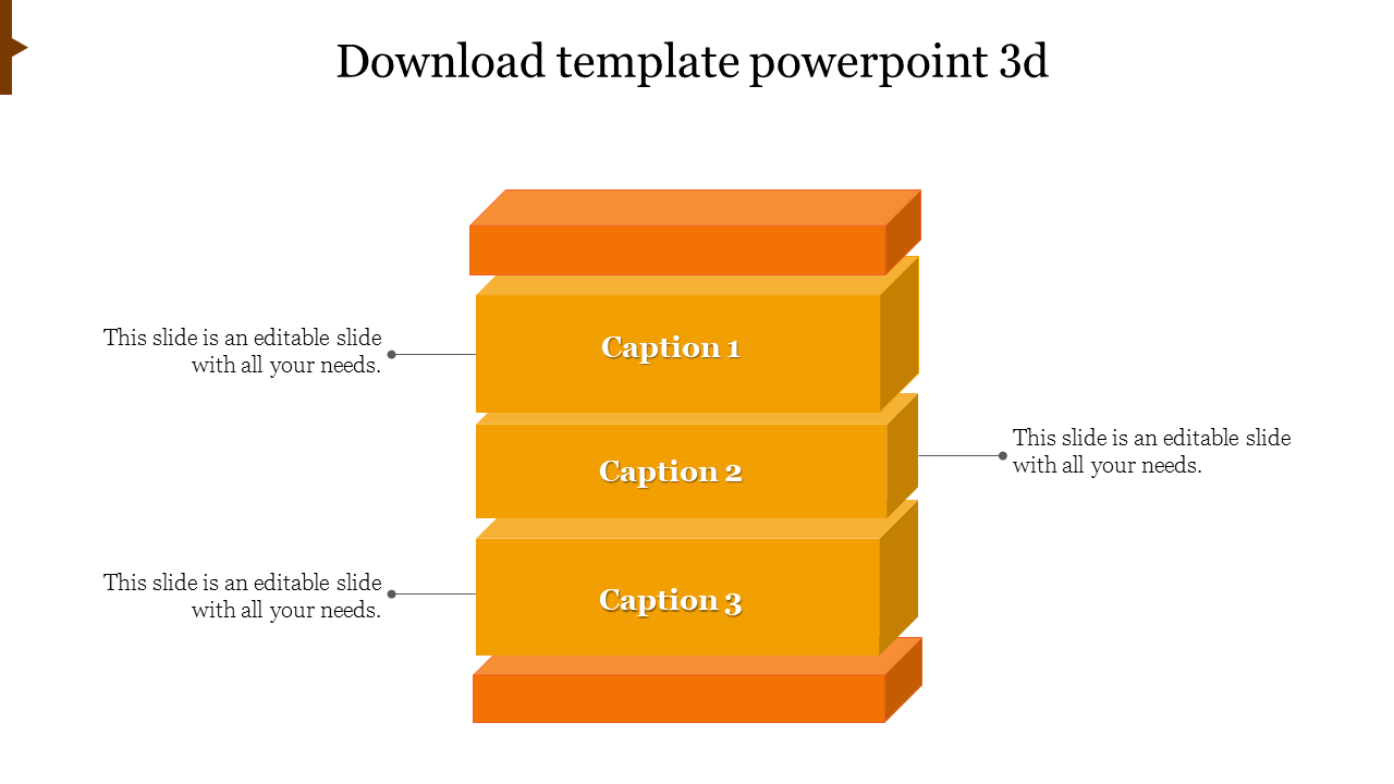 Cube DOWNLOAD TEMPLATE POWERPOINT 3D