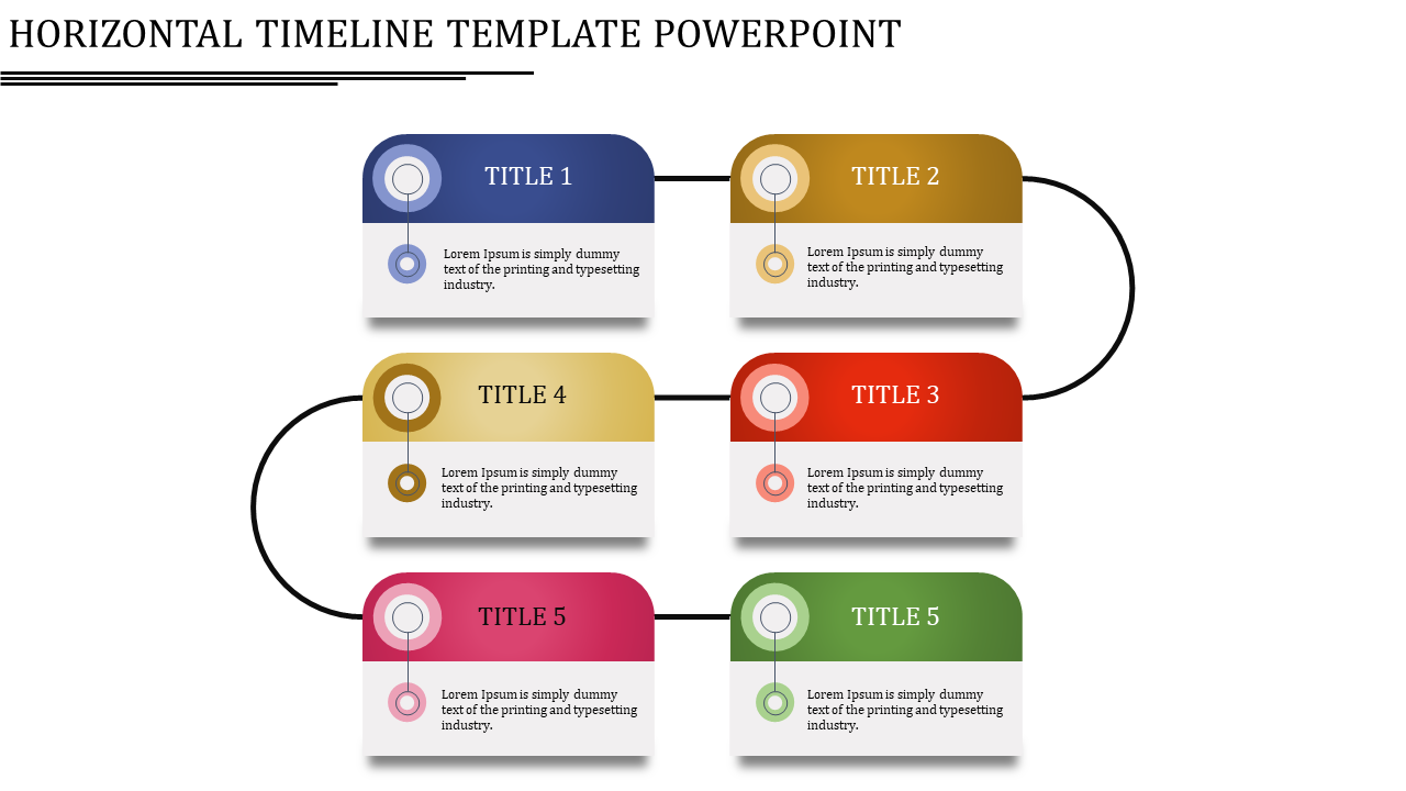 Horizontal Timeline Template Powerpoint Presentation Model