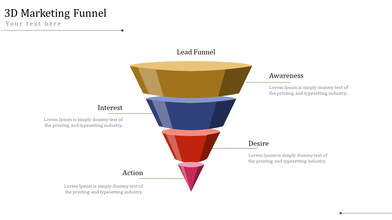 3D Model Editable Marketing Funnel Presentation Template ...